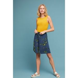 NWT Anthropologie Lemon Print Bermuda Shorts